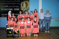 بطولة 1st 3x3 Syria Tour - فريق Cappuccino بطل فئة الناشئات